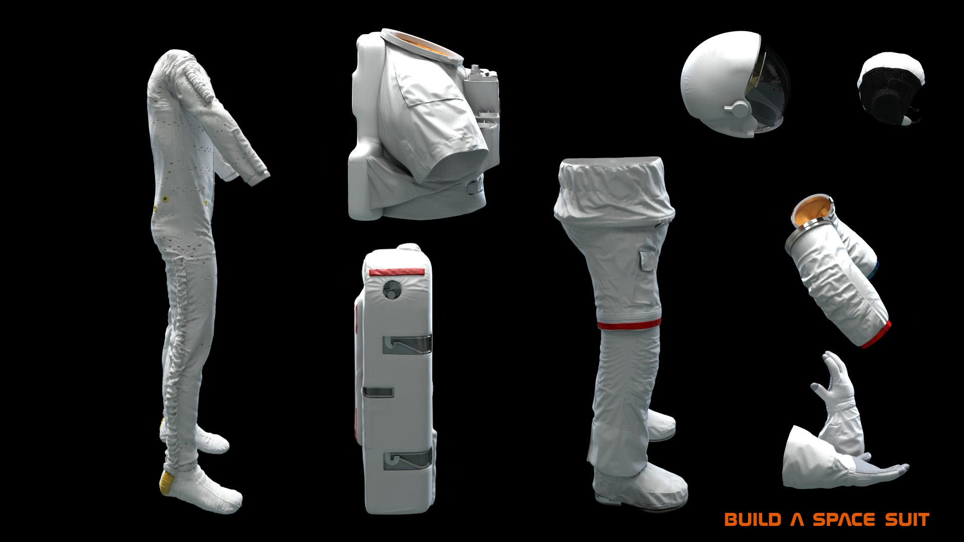 Build a space suit EVA parts