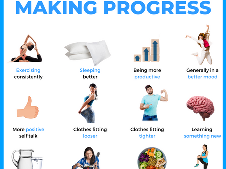 Signs you are making progress