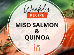 Maple miso Salmon & sushi-inspired Quinoa
