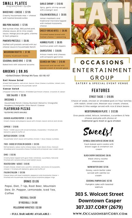 Eat menu for website front updated 10202