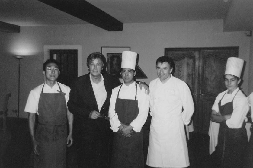 Alain Delon au Moulin de Marcouze