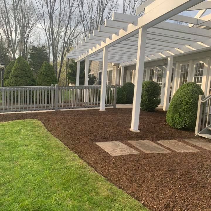 Pergola with Mulched Bed