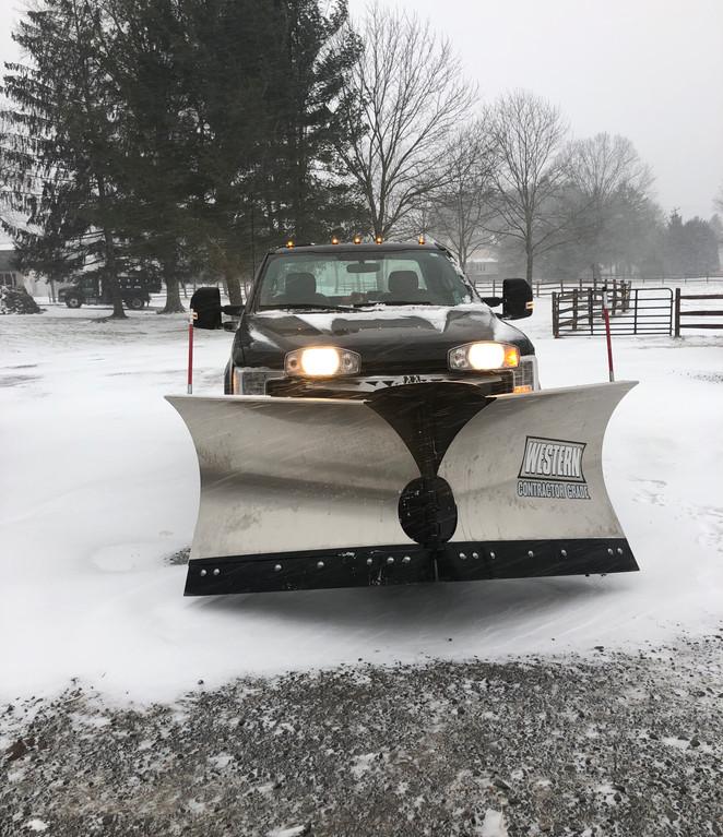 Snow Plow on Truck
