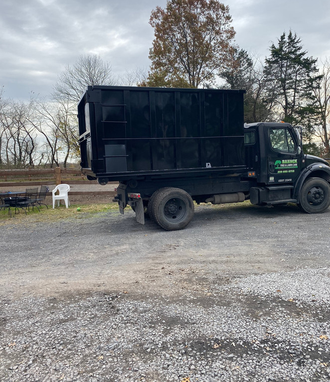 Small Dumpster on Truck