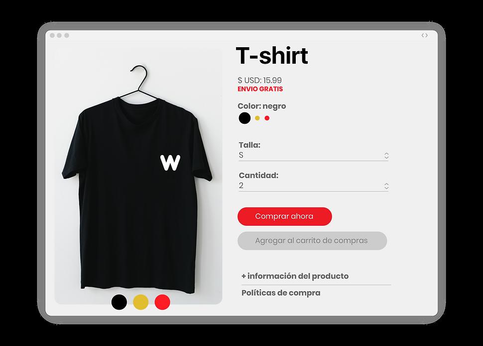 mockup de producto tienda online