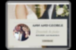ejeplo de web para asistencia de boda