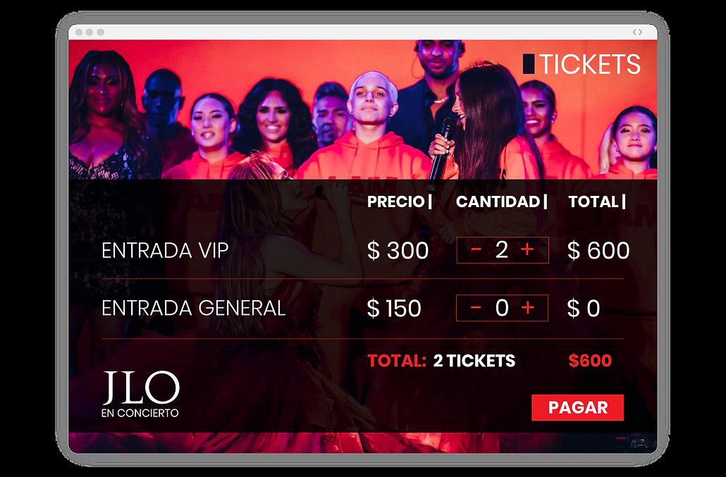 ejemplo de pagina web de venta de boletos