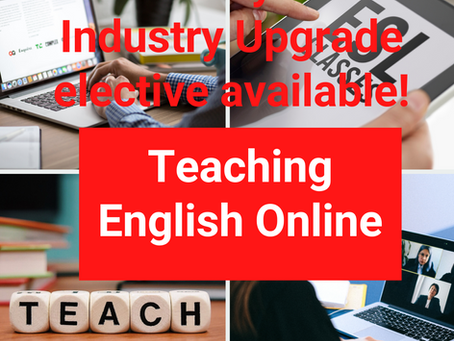 NEW 'Teaching English Online' Industry Key Skill available!