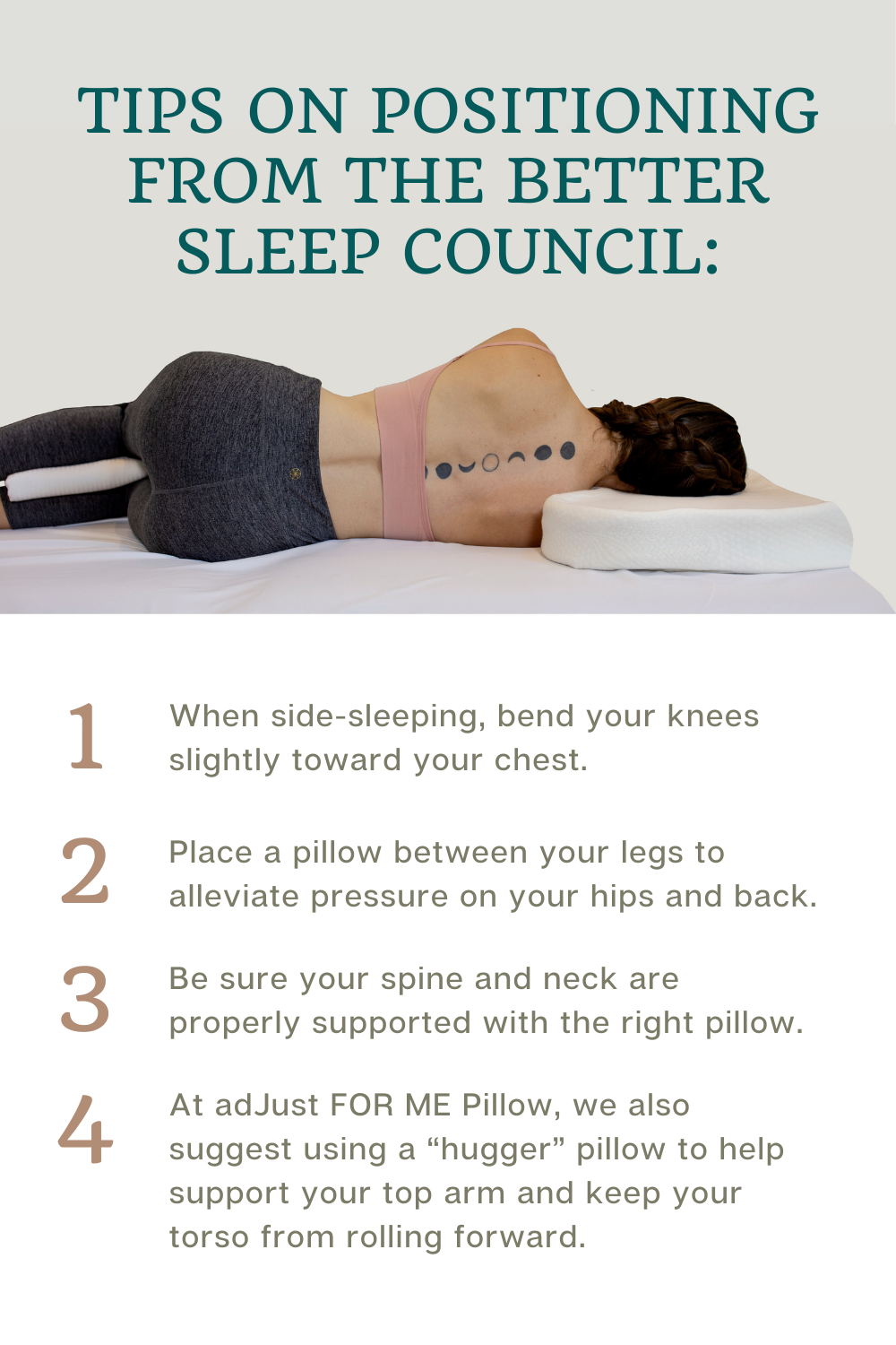 Side sleeper with good spinal alignment