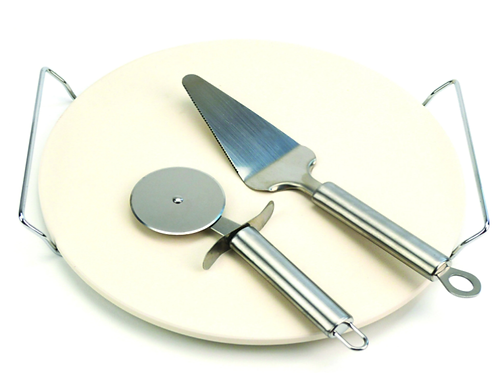 30cm Pizza Stone, Lifter & Cutter