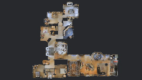 Top Down view of 3D staged home