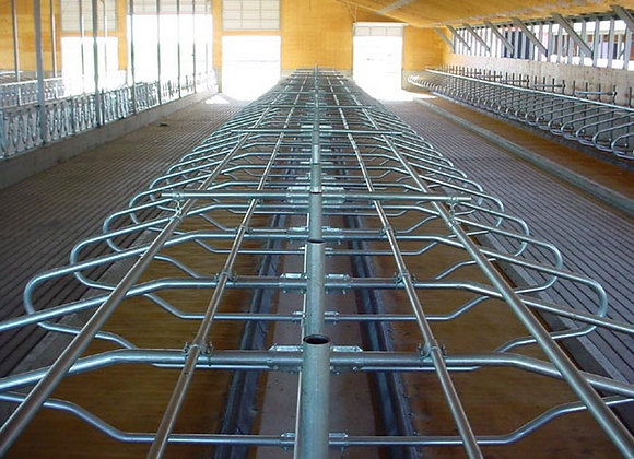 Vista de instalación de cubículos separadores