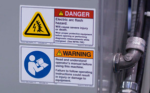 """""""Yes, we have arc flash labels on our panels."""""""