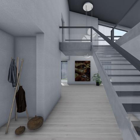 Flurbereich - Treppe ins Obergeschoss