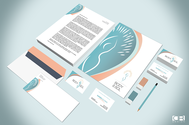 body and sol Realistic Stationery PSD Mo