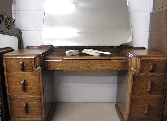 1930s Art Deco Oak Dressing Table