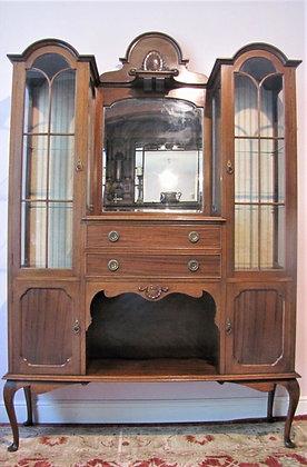 Antique Scottish Mahogany Display Cabinet