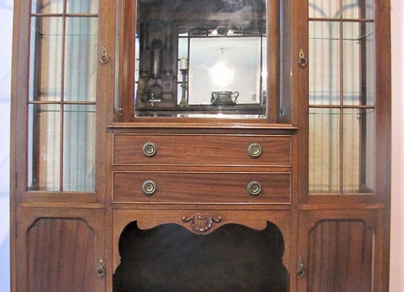 Antique Scottish Mahogany Display Cabinet