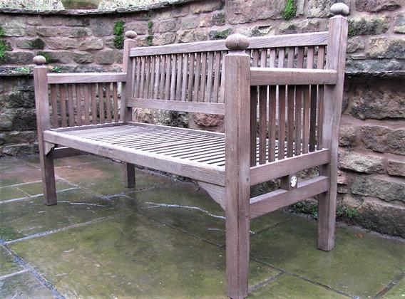 1920's Heals of London Teak Garden Bench Seat