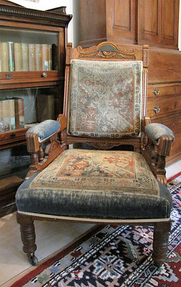 Carved Library Chair Dated 1893