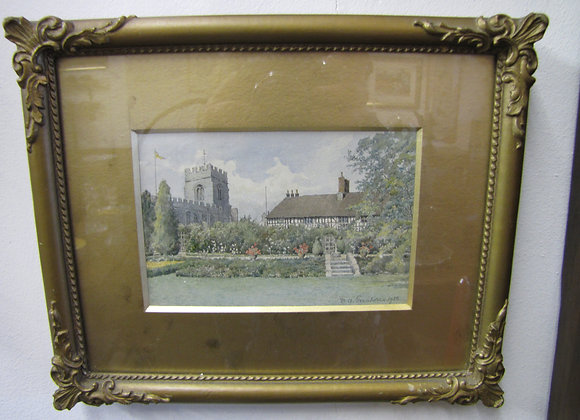 WATERCOLOUR 'THE GUILD CHAPEL STRATFORD ON AVON'
