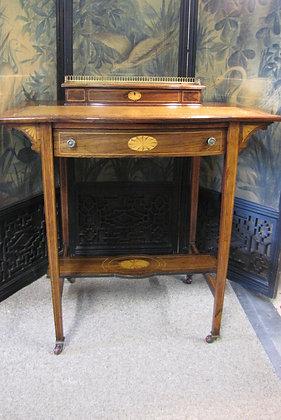 Antique Small Inlaid Ladies Rosewood Writing Desk