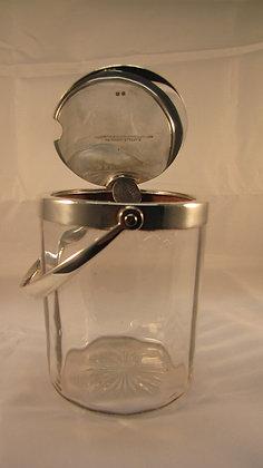 Goldsmiths & Silversmiths Co Silver Conserve Jam Jar Pot
