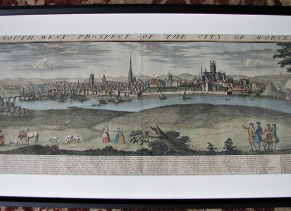 THE SOUTH WEST PROSPECT OF THE CITY OF WORCESTER. SAMUEL AND NATHANIEL BUCK