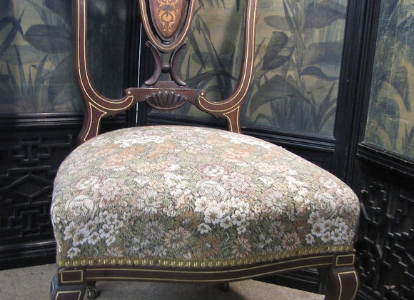 Pretty early Victorian inlaid chair