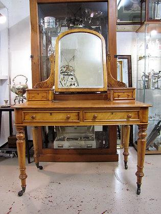 Elegant Victorian Dressing Table In Satin Walnut