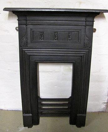 Victorian Coalbrookdale cast iron fireplace