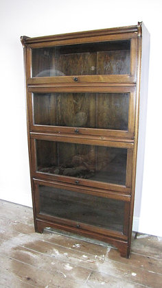 Antique Glazed Mahogany Solicitors Bookcase