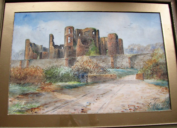 Watercolour of Kenilworth Castle by Ernest T Potter