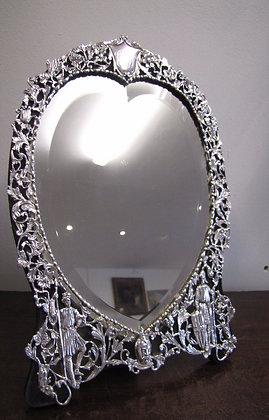 A Victorian Silver Easel Mirror