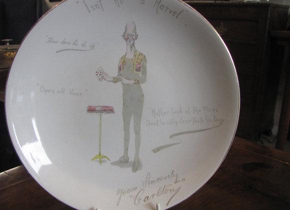 Carlton - 'The Human Hairpin' Souvenir Plate