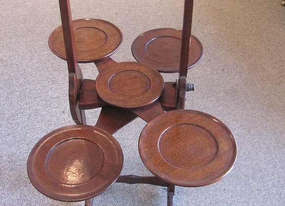 Monoplane Mahogany Cake Stand Plate Stand