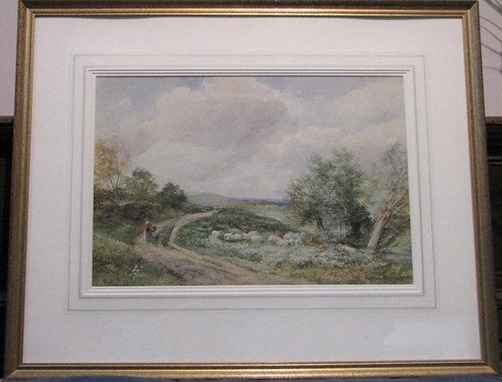David Bates Watercolour 'At West Malvern'
