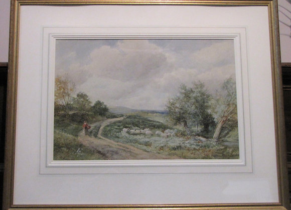 David Bates Watercolour 'At West Malvern'