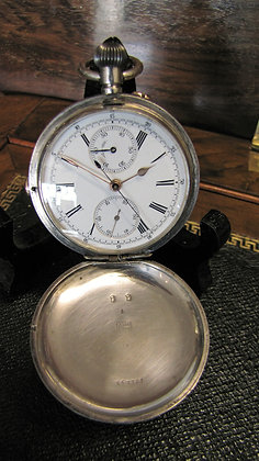 Antique Nicolet  Chronograph Full Hunter Pocket Watch