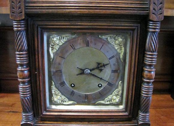 Winterhalder & Hofmeier Oak Cased Ting Tang Mantel Clock C.1900