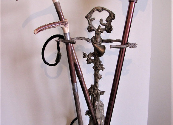 Early 20th Century French Brass Umbrella/Stick Stand with Hunting Motifs