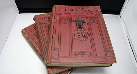 'The Book Of The Motor Car' 3 Volume Set. 1913