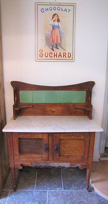 MARBLE TOPPED WASHSTAND CUPBOARD