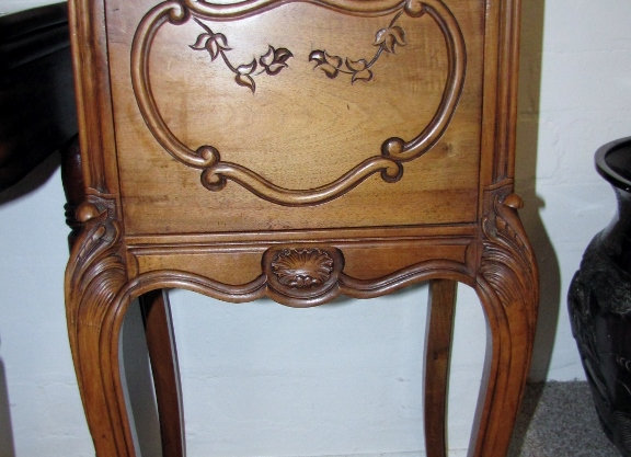 Fine late 19th French Solid Carved Walnut Marble Top RESERVED