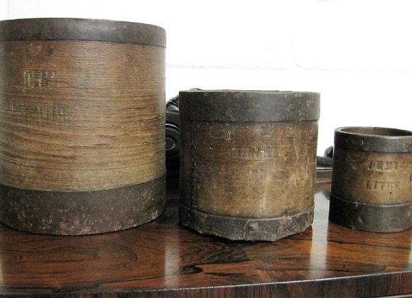 3 Antique French grain measures