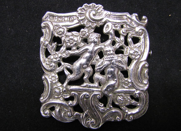 Antique Silver Brooch. Samuel Jacob 1900