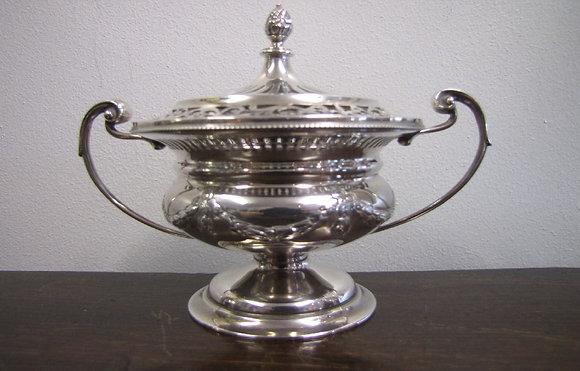 Asprey & Co. Silver Pot Pourri Of Campana Form
