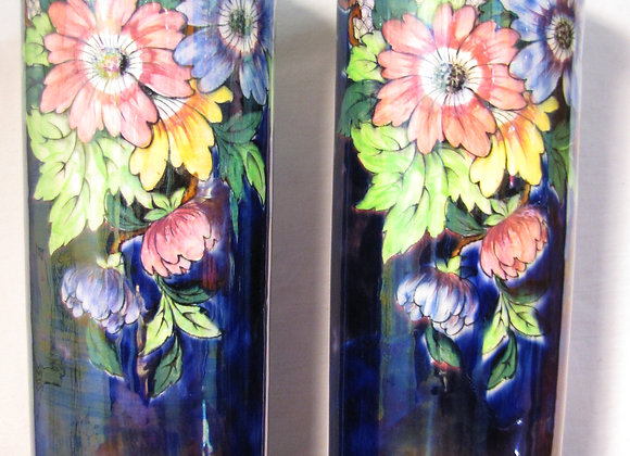 Pair of 1930s Maling Lustre Ware Vases