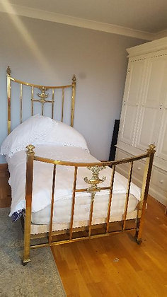 SUPERB QUALITY FRENCH BRASS SINGLE BED