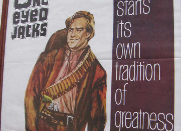 "Original 1961 ""One Eyed Jacks"" Promo Movie Poster"